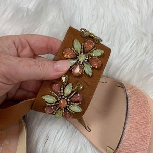 Anthropologie Shoes - NEW Anthro embellished jewel leather sandal